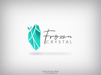 Frozencrystal logo redesign logo design logodesign logotype logo round logo blue white ice round crystal cristal redesigned redesign design