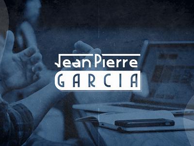 JP GARCIA mathematics teacher vector branding lettering blue logo design simple logotype teacher home education flat typogaphy font design logo