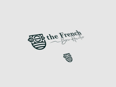 The french bow hunter green logos logotype banding simple logo badgedesign blason badge logo badge
