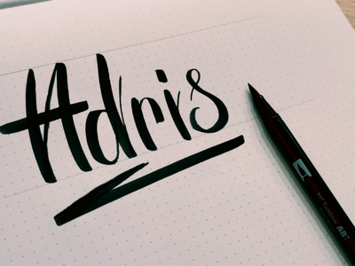 Callygraphy for my little brother design logo font brush lettering pen letter brush lettering calligraphie callygraphy