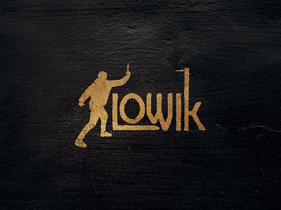 LOWIC - knife thrower logo flat logo design typography logos branding design silhouette knife logo lettering typogaphy logotype logo