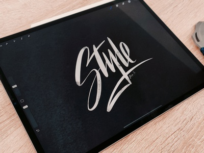 """""""Style"""" calligraphy lettering logo calligraphy logo branding logo artists calligraphie hand lettering handlettering lettering calligraphy"""