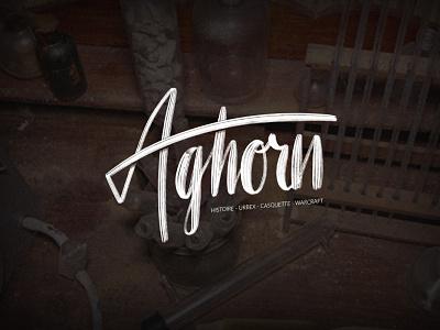 Aghorn YT banner lettering logo graphic designer graphisme branding lettering art calligraphy lettering