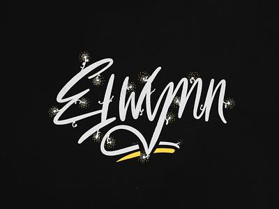 Elwynn Forest lettering brush lettering letter typography calligraphy flat logotype logo design illustration