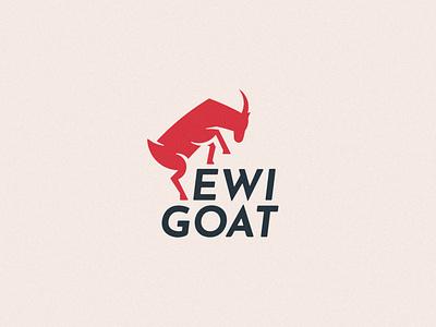 Logo for a goat delivery service red service delivery graphic design illustration brand branding design simple logo design logotype flat goat logo