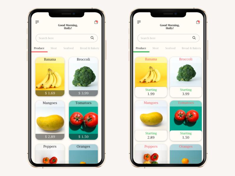 Daily UI #6 - Grocery App