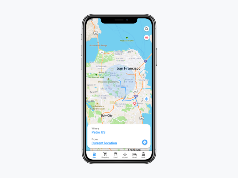 Daily UI Challenge # 7 - Map App