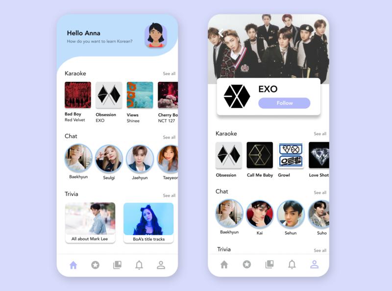 LingoPop | Learn Korean with K-Pop language learning kpop design app