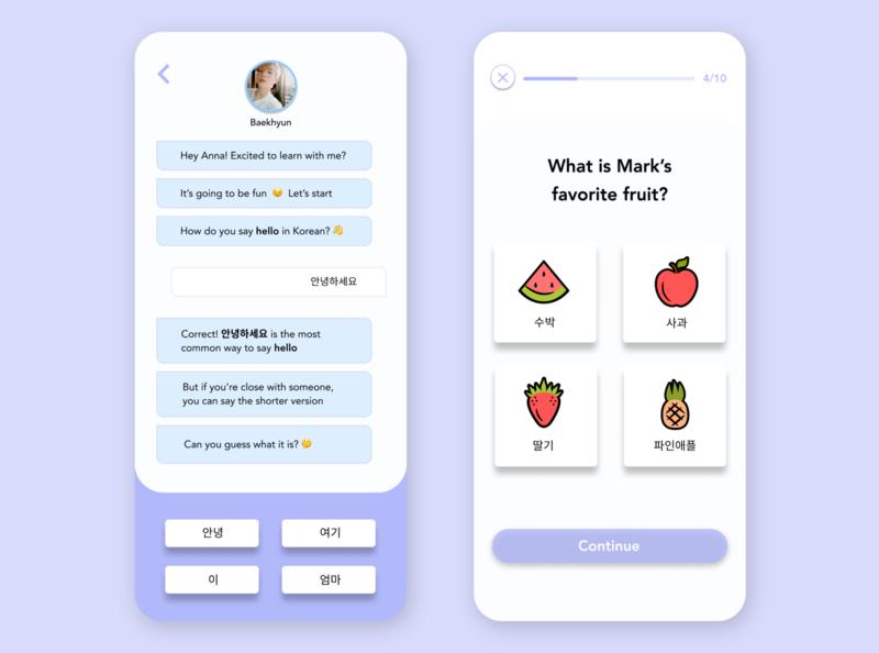 LingoPop | Learn Korean with K-Pop app language learning kpop design