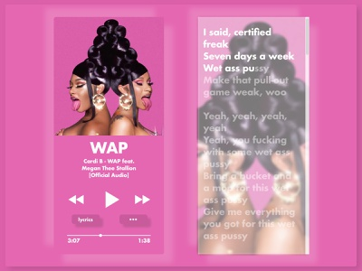 Day 9: Music Player - With karaoke Feature music art music player music app music design xd ui daily dailyuichallenge daily ui dailyui daily 100 challenge