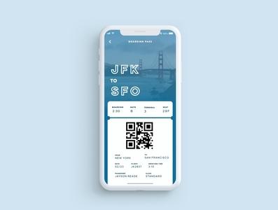 Daily Ui 24 Boarding Pass design app ux ui