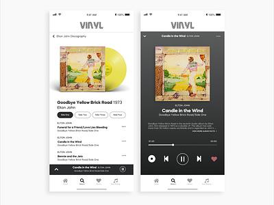 Daily UI #9 Music App design app typography ux ui