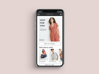 Daily UI Curated For You vector flat design branding app typography minimal ui ux daily ui challenge curated for you daily ui