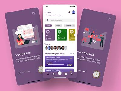 Task Tracker Mobile App uidesign uiuxdesign mobile app mobile app design mobile ui