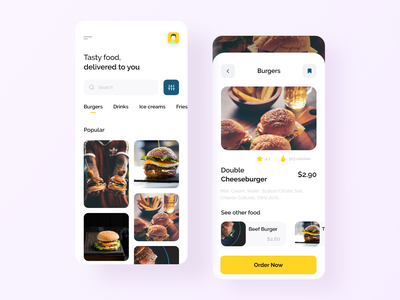 Food Delivery App Design mobile design mobile ui design app mobileapp ui mobile burger delivery fooddelivery foodapp food