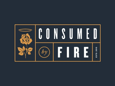 Consumed merch consumed by fire cbf rose halo vintage texture apparel