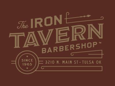 Iron Tavern tavern vintage branding logo barbershop iron
