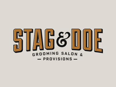 Stag&Doe stag branding logo doe salon barber provisions grooming