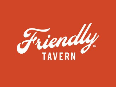 Friendly friendly tavern bar logo beer pub branding script