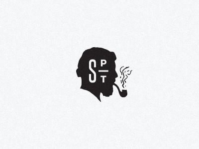 Salty logomark logo monogram sailor salty foodtruck branding smoking pipe