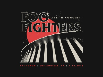 Foo Fighters Live t shirt merch concert live the forum foo fighters