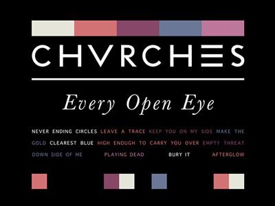 Every Open Eye tshirt pantones merch chvrches
