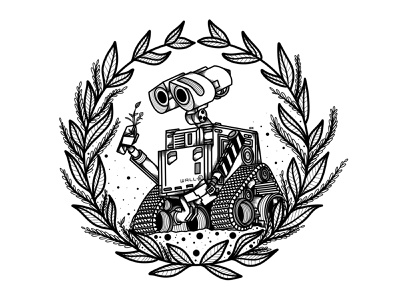 Wall-e sticker design stickers sticker pixar art pixar robot wall-e walle disney tv tattoo design procreate app procreate illustration film digital illustration digital art design animation