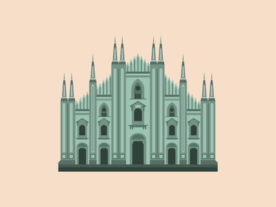 Duomo graphic italy city architecture
