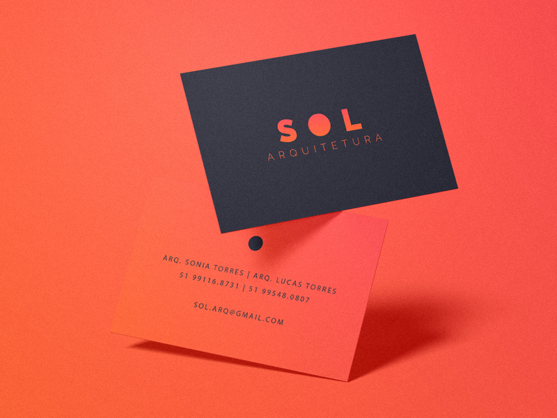 SOL Architecture orange sol sun architecture vector minimal flat design logo branding