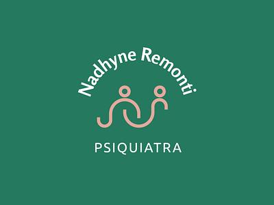 Nadhyne Remonti Psiquiatra   Smile Logo happy psychiatry people smile illustration icon vector minimal flat design branding logo