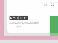 RMO P01 - Kickstarter?