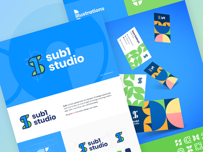 Sub1 Studio Branding app icon ux ui creativity commercial company creative background concept logo design branding marketing identity business brand