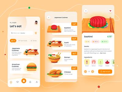 Food App 🍔 ux ui design ui mobile design mobile app delivery mobile menu icon food icon food illustration food app food delivery app