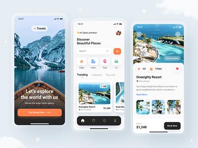 Travel App UI vacation destinations mobile travel ux illustration mobile app dribbble uidesign design ui