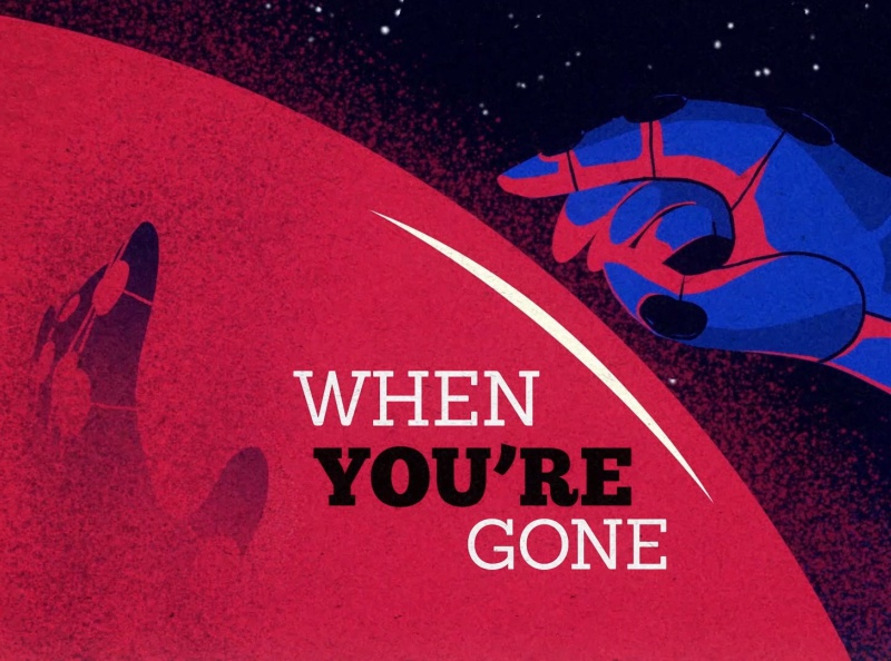 When you're gone space motiongraphics storytelling illustration