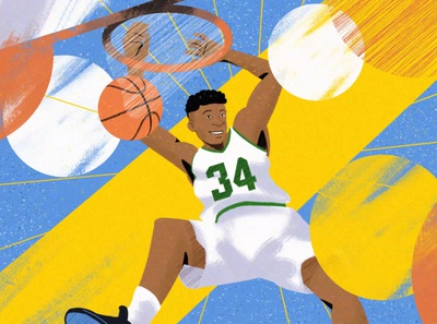 The Little Green Book bucks sport basketball storytelling illustration freelance design compositing animation