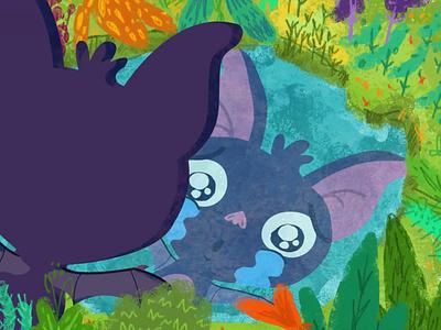 Cuentazos con Efectazos tale kids bat 2d motiongraphics storytelling illustration freelance design compositing animation