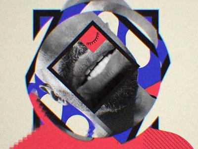 Haz Más - El Chojin (02) rapper video music music video beige black blue red hip hop rap collage 2d motiongraphics storytelling illustration freelance design compositing animation