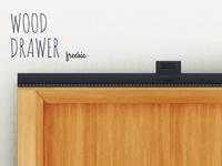 Wood drawer freebie