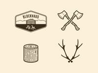 Blockhaus Logo and Icons