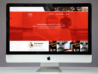 Update Deluxe Website onepager webdesign landing page