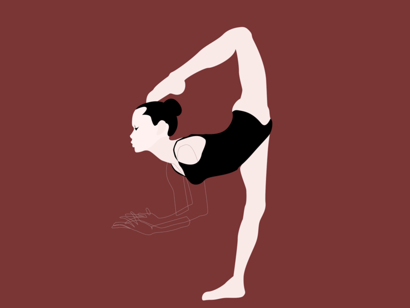 Gymnast branding vector illustrator character design gymnastic gymnast design illustration