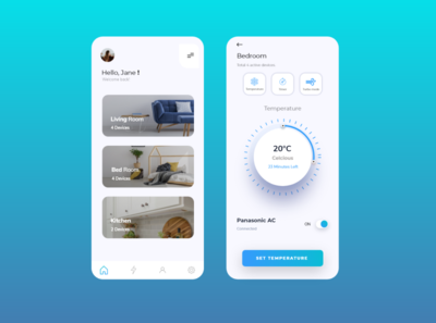 Home monitoring Dashboard homemonitoring temperature app mobile ui ui dailyuichallenge dailyui