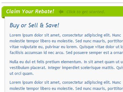 Rebate Bar prototype example slide in site addition