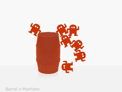 Barrel O Martians martians barrel rebound martiangame