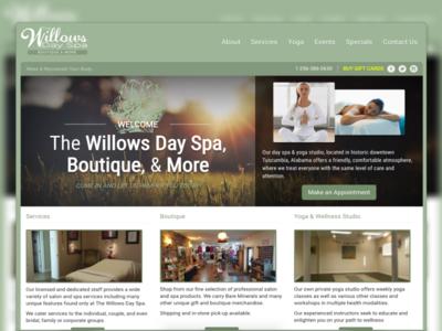 Willows greenish website design