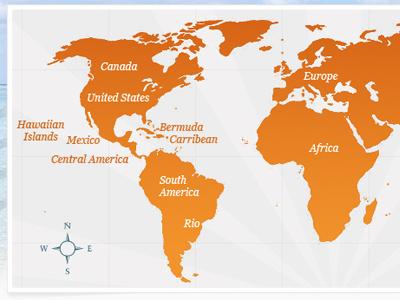 World Map map gradient