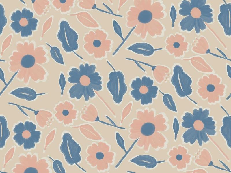 Pastel Blooms Pattern floral pattern floral art pattern design pattern art pastel floral