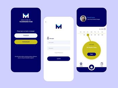 Online Management System Mobile App ui vector minimal mobile app ux 2021 app
