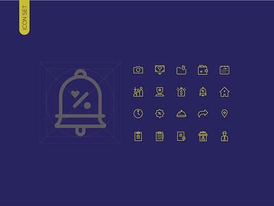 Icon set graphic design app mobile app icons web design ui 2021 icon set icon flat design vector minimal